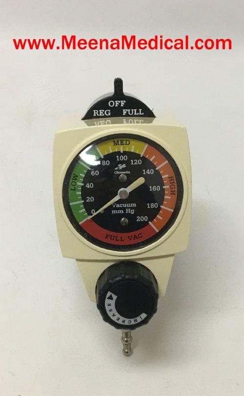 Endoscopy Room Equipment List: OHMEDA 200 CONTINUOUS VACUUM REGULATOR
